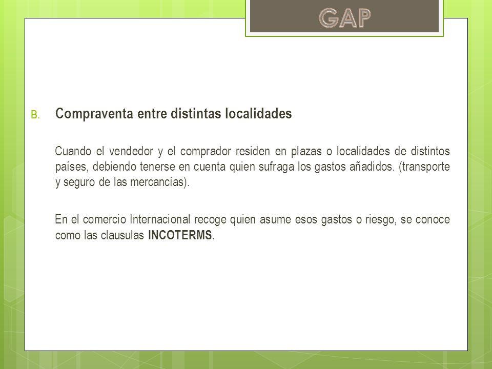 GAP Compraventa entre distintas localidades
