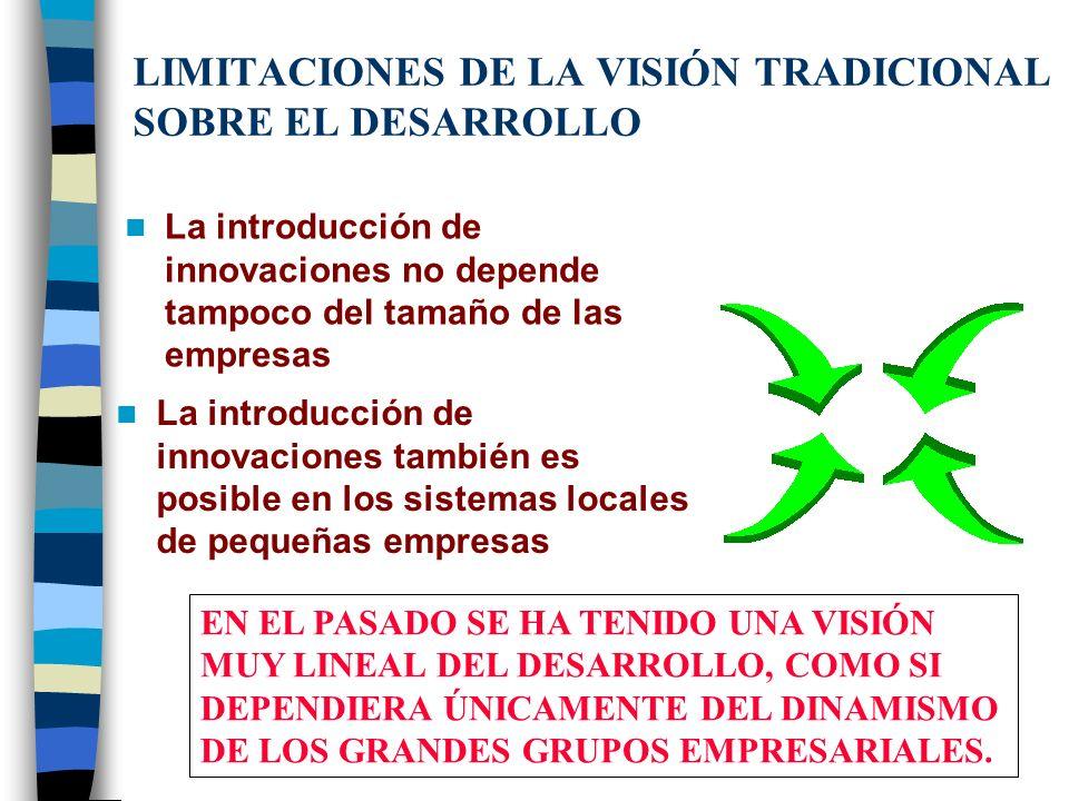 LIMITACIONES DE LA VISIÓN TRADICIONAL SOBRE EL DESARROLLO