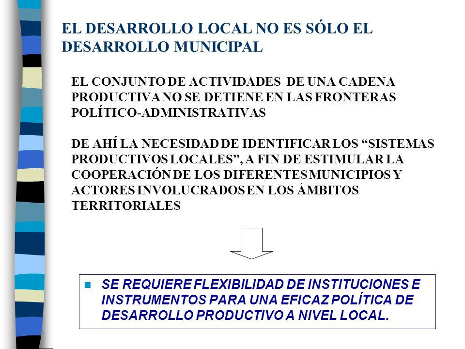 EL DESARROLLO LOCAL NO ES SÓLO EL DESARROLLO MUNICIPAL