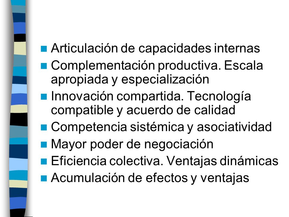 Articulación de capacidades internas