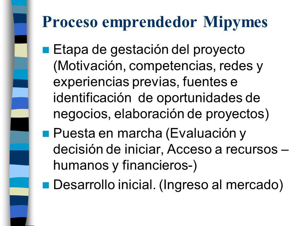 Proceso emprendedor Mipymes