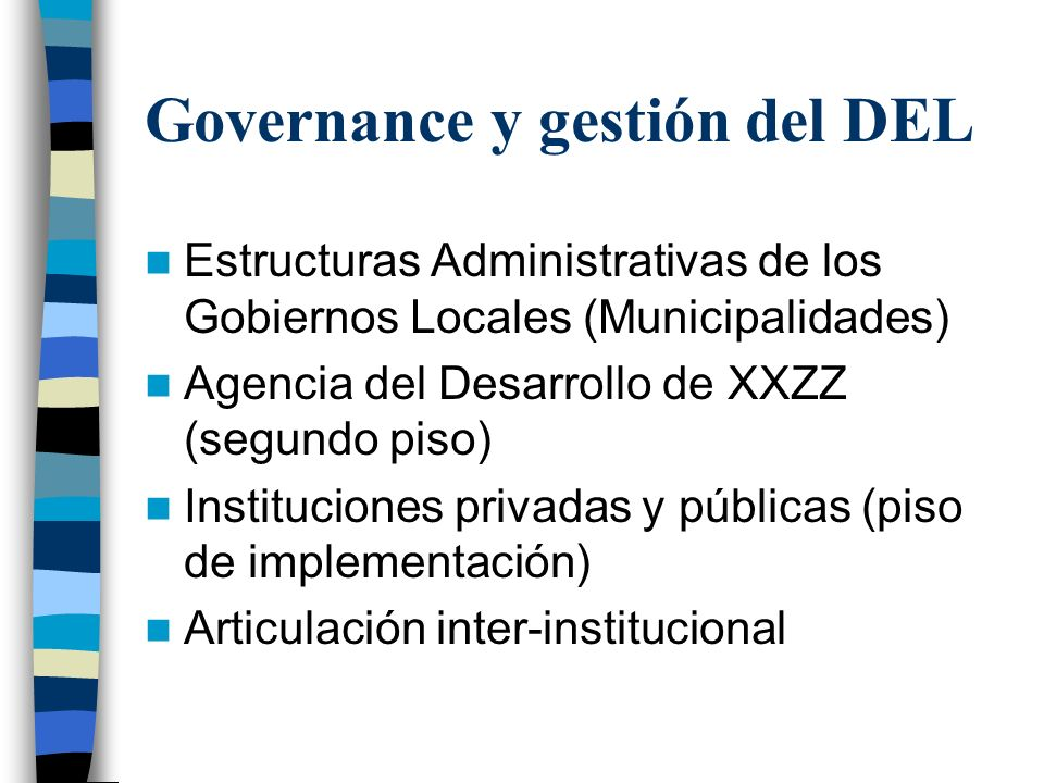 Governance y gestión del DEL