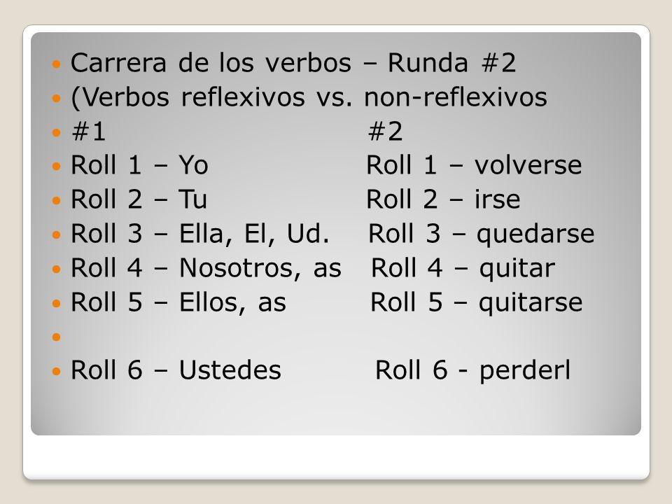 Carrera de los verbos – Runda #2