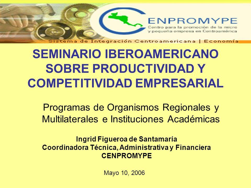 SEMINARIO IBEROAMERICANO SOBRE PRODUCTIVIDAD Y COMPETITIVIDAD EMPRESARIAL