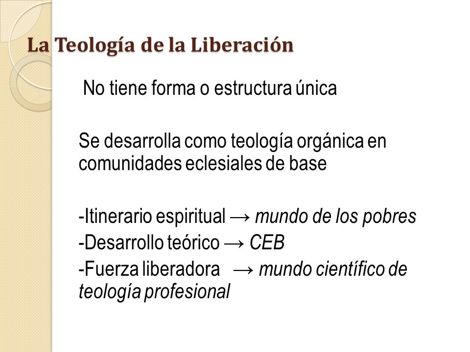 La Teología de la Liberación