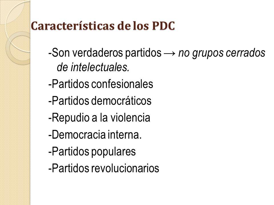 Características de los PDC