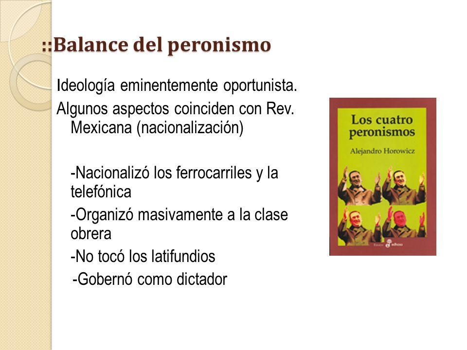 ::Balance del peronismo