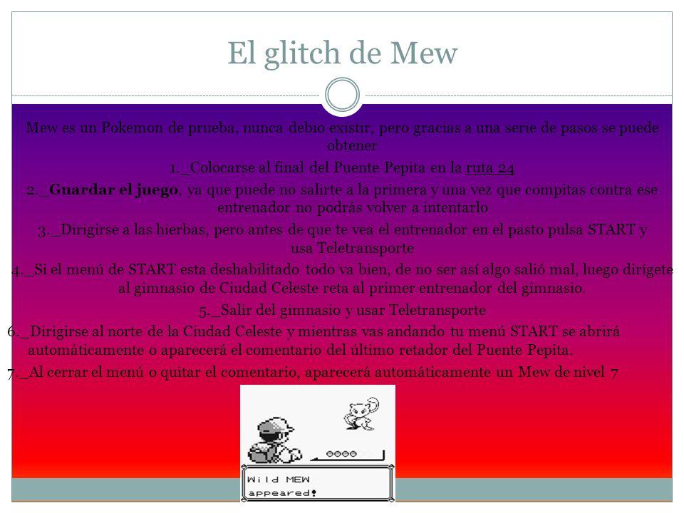 El glitch de Mew