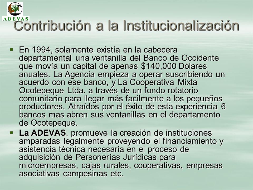 Contribución a la Institucionalización