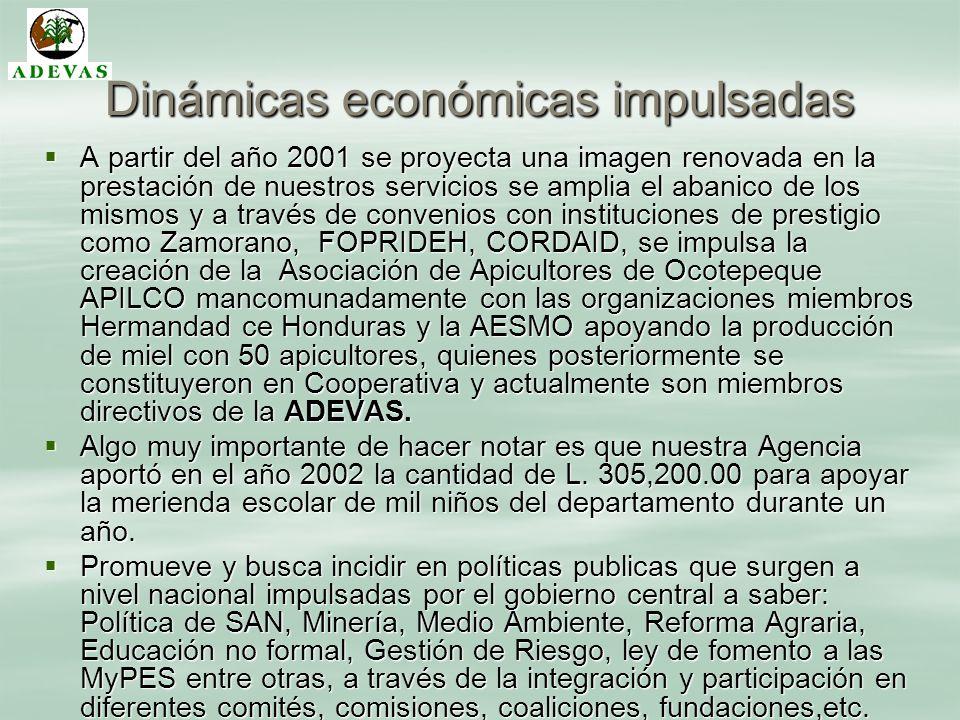 Dinámicas económicas impulsadas