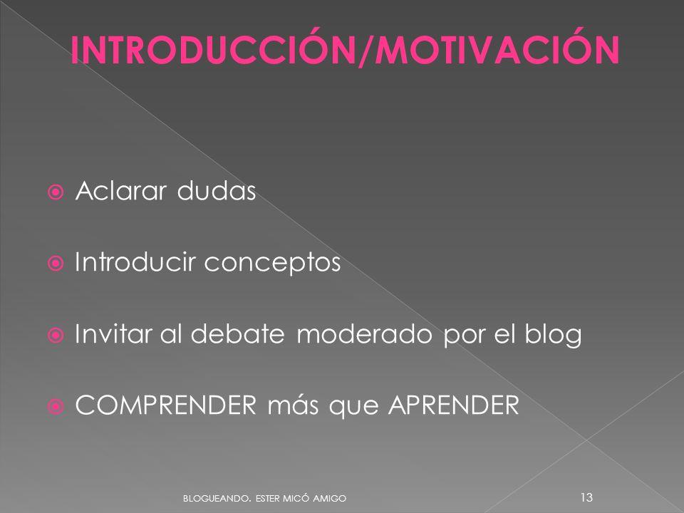 INTRODUCCIÓN/MOTIVACIÓN