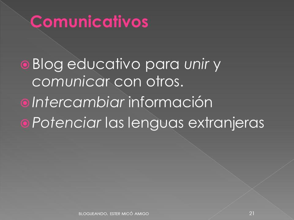 Comunicativos Blog educativo para unir y comunicar con otros.