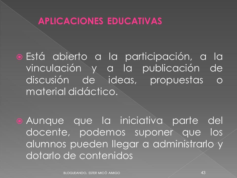 Ester Micó. BLOCS 09/06/11. APLICACIONES EDUCATIVAS.