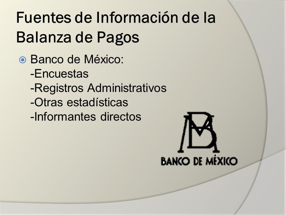 Fuentes de Información de la Balanza de Pagos