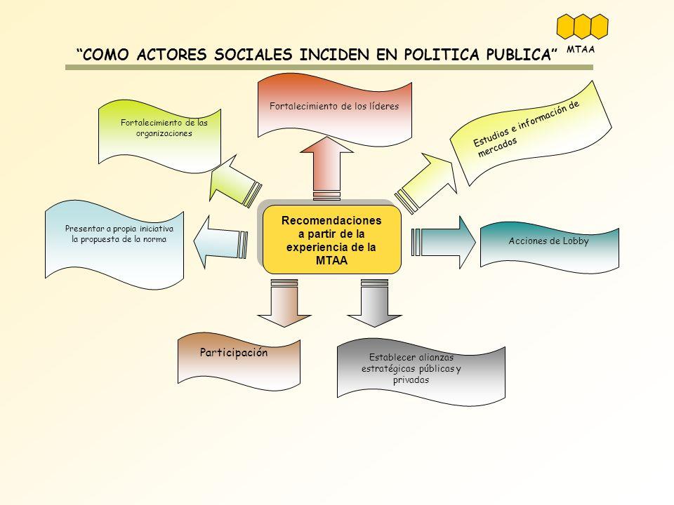 COMO ACTORES SOCIALES INCIDEN EN POLITICA PUBLICA