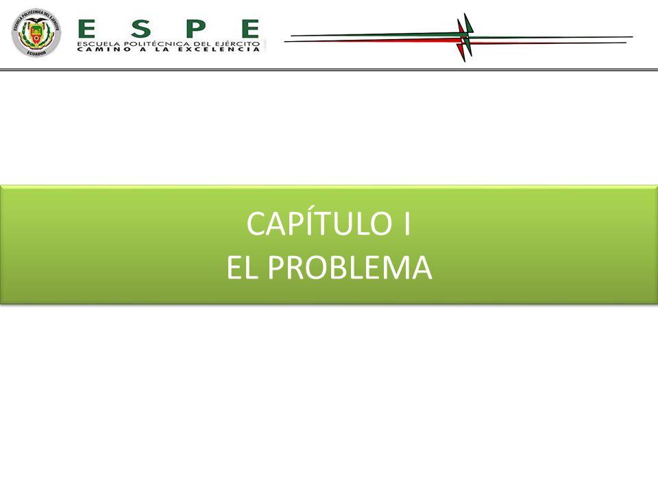 CAPÍTULO I EL PROBLEMA