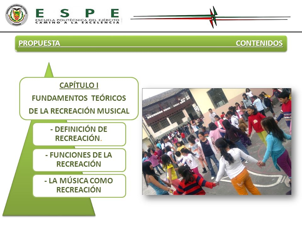 DE LA RECREACIÓN MUSICAL