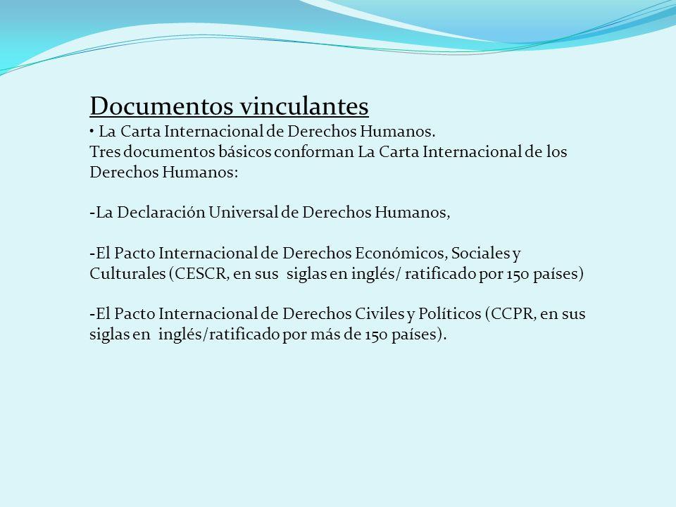 Documentos vinculantes