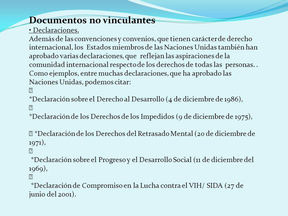 Documentos no vinculantes
