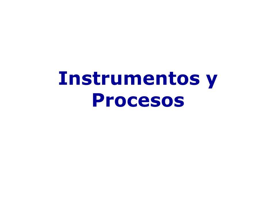Instrumentos y Procesos