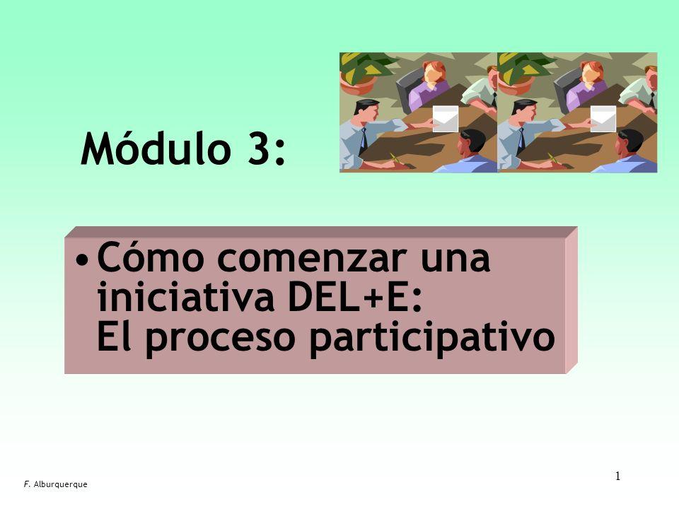 Módulo 3: Cómo comenzar una iniciativa DEL+E: El proceso participativo