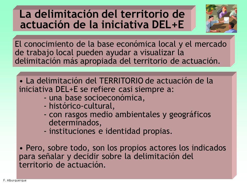 La delimitación del territorio de actuación de la iniciativa DEL+E