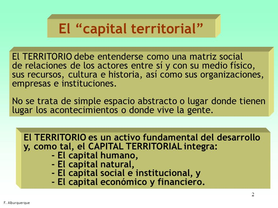 El capital territorial