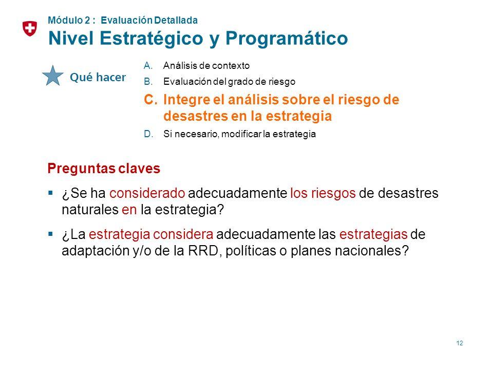 Nivel Estratégico y Programático