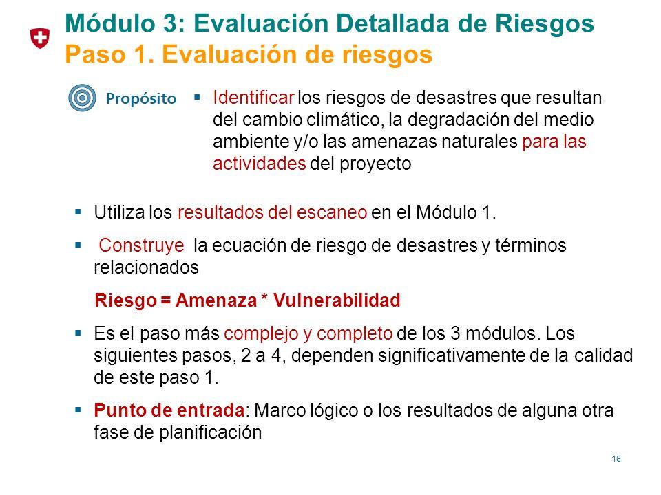 Módulo 3: Evaluación Detallada de Riesgos