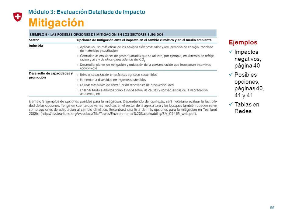 Mitigación Ejemplos Módulo 3: Evaluación Detallada de Impacto