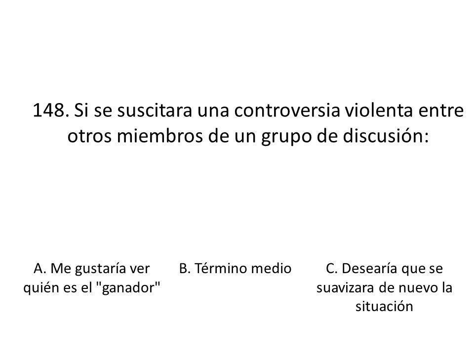 148. Si se suscitara una controversia violenta entre otros miembros de un grupo de discusión: