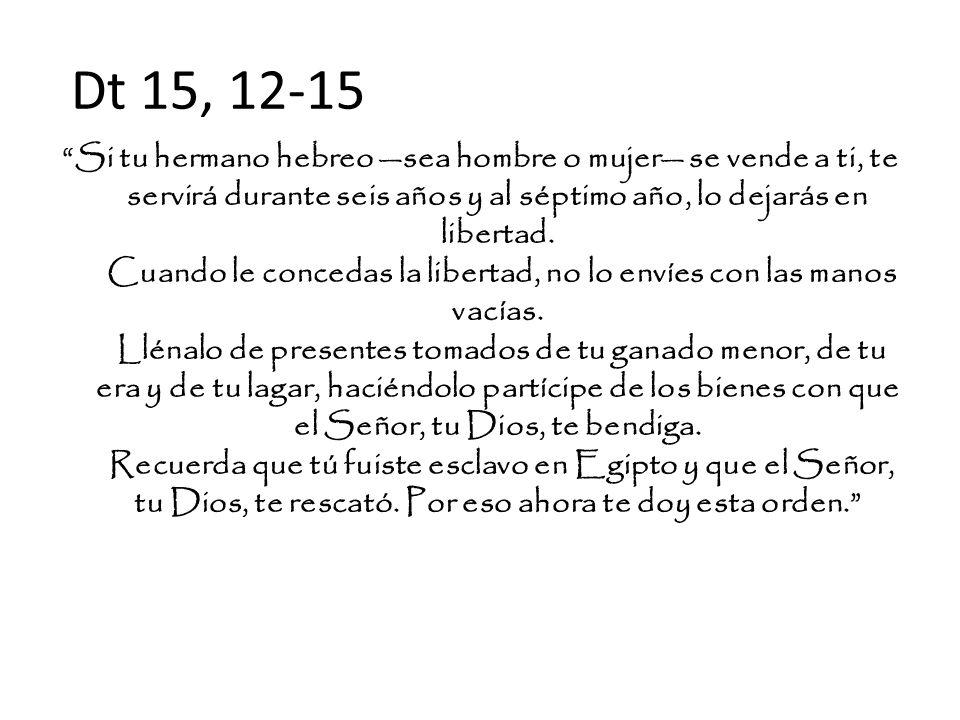 Dt 15, 12-15