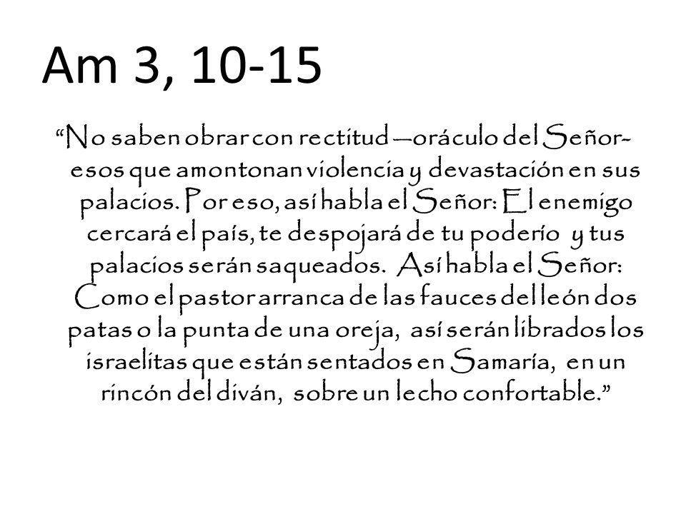 Am 3, 10-15