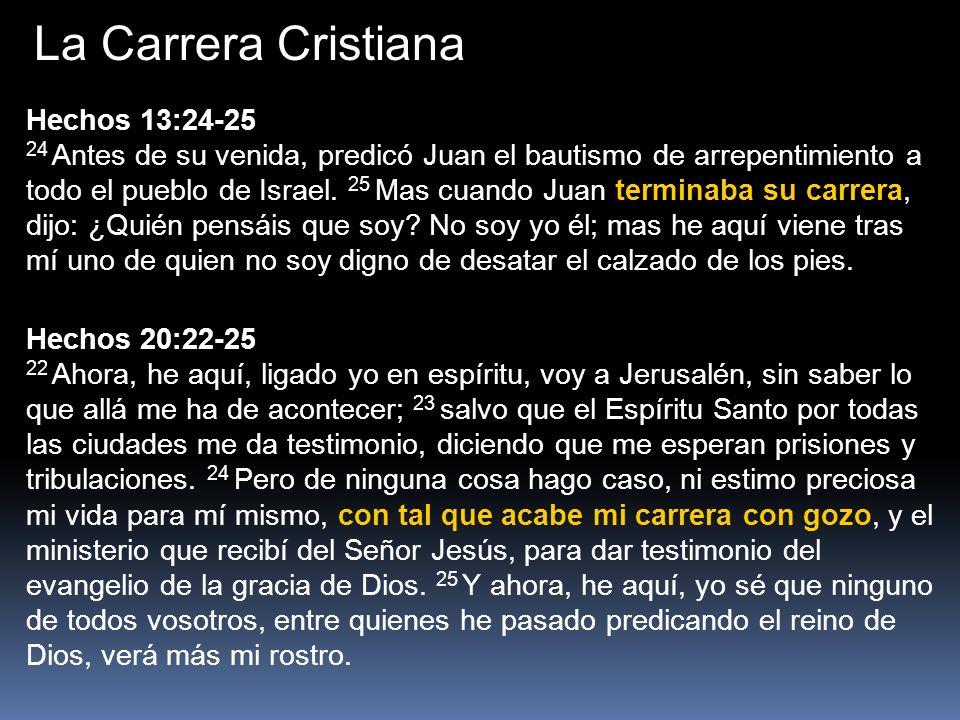 La Carrera Cristiana Hechos 13:24-25