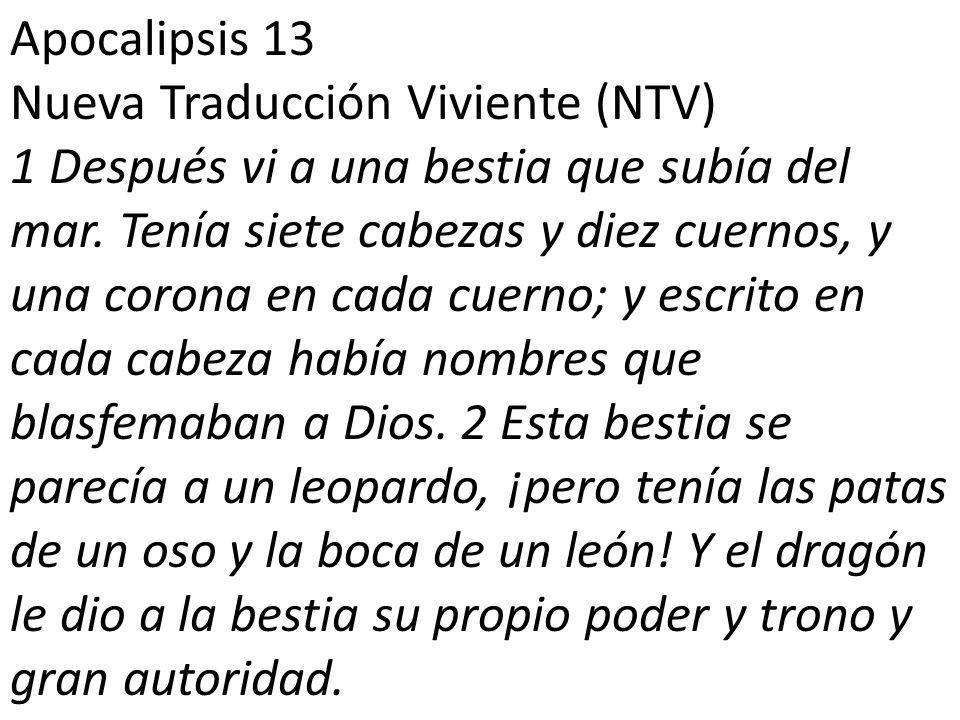 Apocalipsis 13 Nueva Traducción Viviente (NTV)