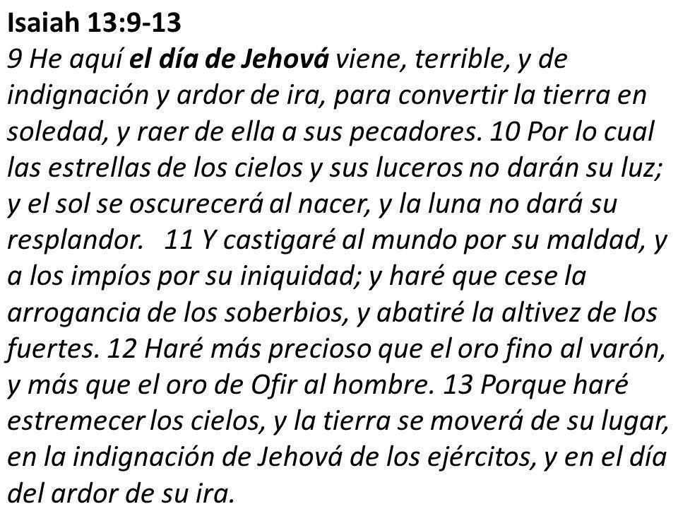 Isaiah 13:9-13