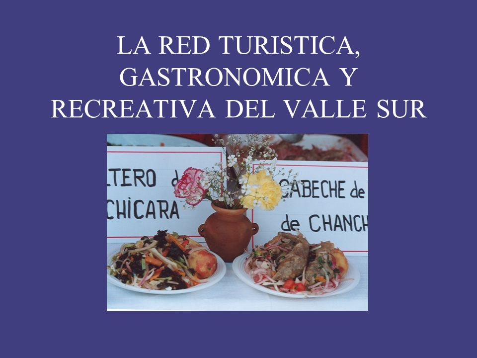 LA RED TURISTICA, GASTRONOMICA Y RECREATIVA DEL VALLE SUR