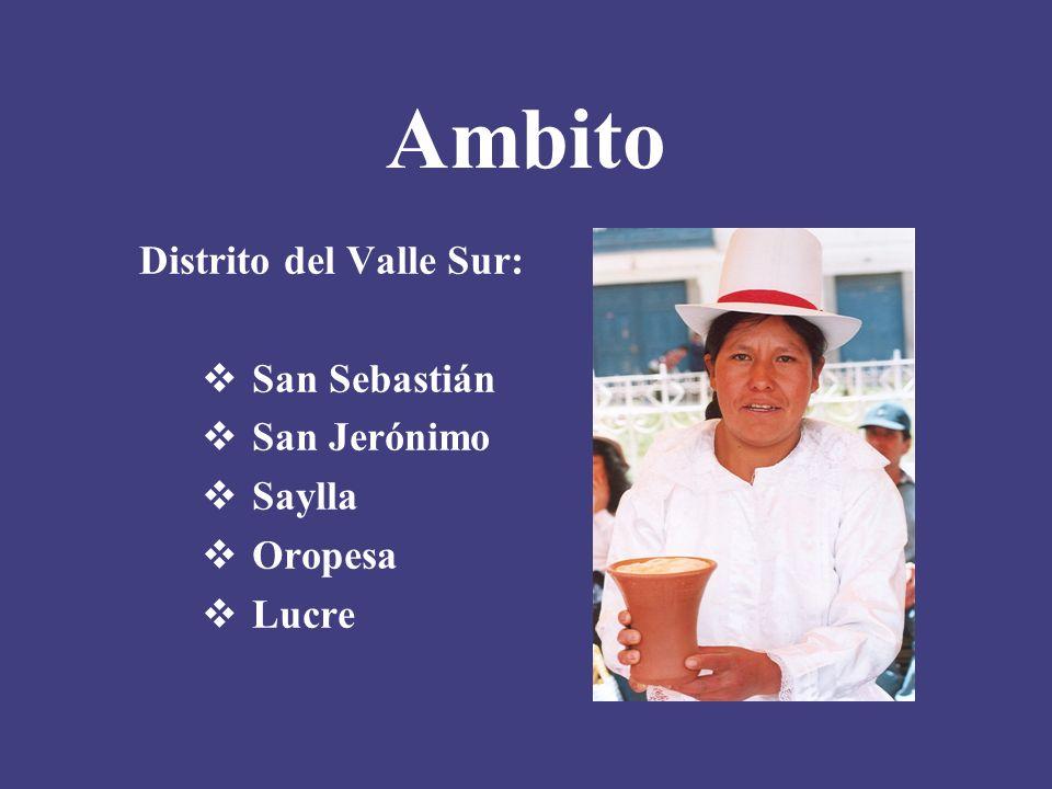 Ambito Distrito del Valle Sur: San Sebastián San Jerónimo Saylla