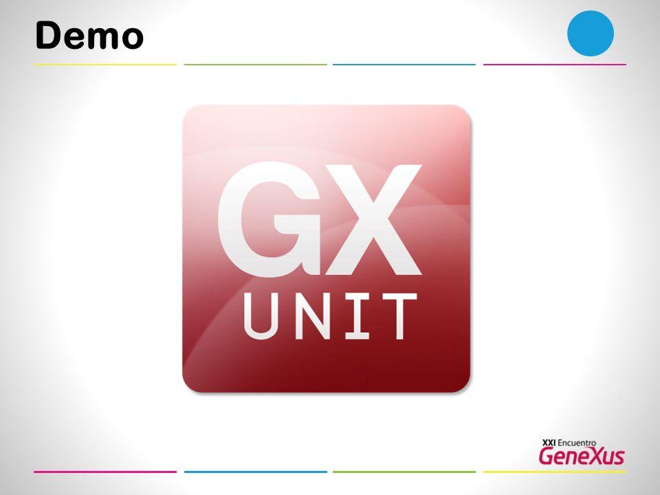 Demo Como se puede ver la herramienta está Integrado al entorno de GeneXus.