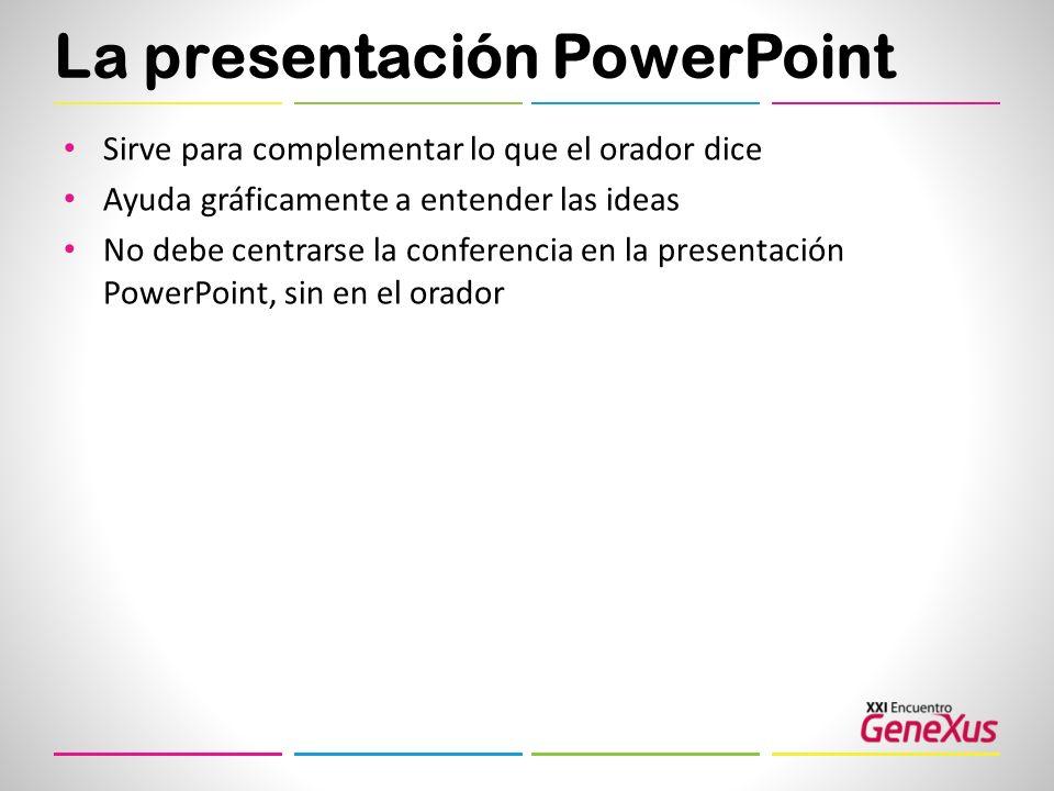 La presentación PowerPoint