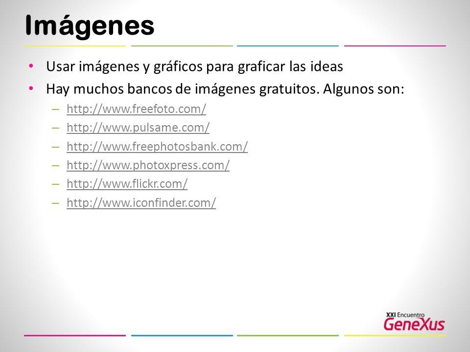 Imágenes Usar imágenes y gráficos para graficar las ideas
