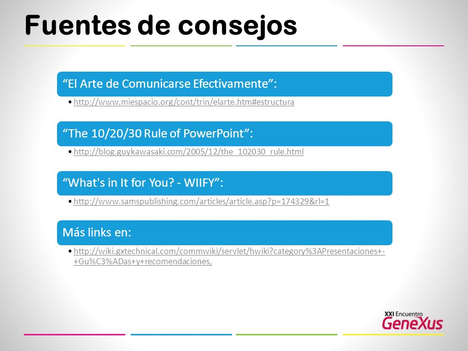 Fuentes de consejos El Arte de Comunicarse Efectivamente :