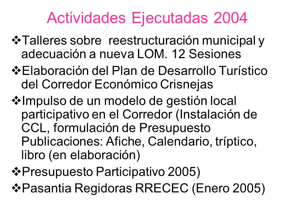 Actividades Ejecutadas 2004