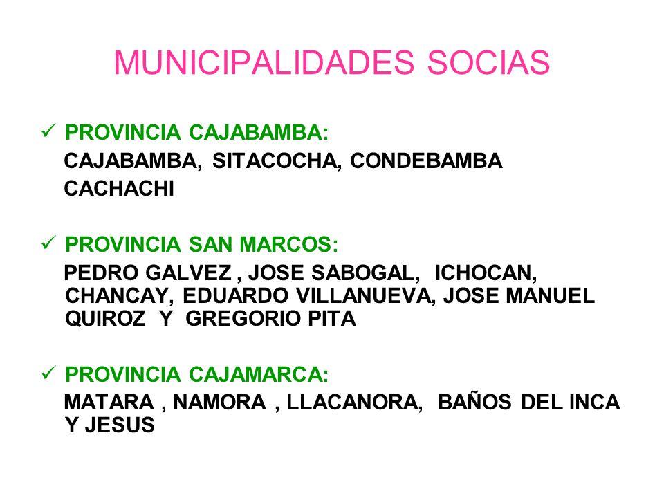 MUNICIPALIDADES SOCIAS