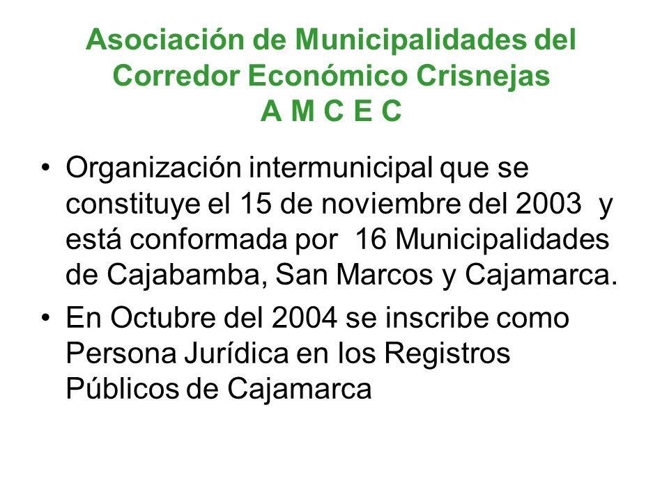 Asociación de Municipalidades del Corredor Económico Crisnejas A M C E C