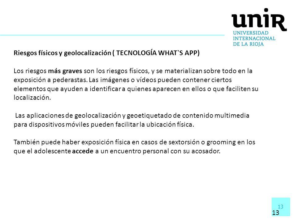 Riesgos físicos y geolocalización ( TECNOLOGÍA WHAT`S APP)