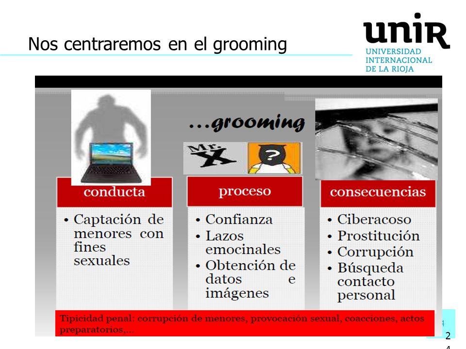 Nos centraremos en el grooming