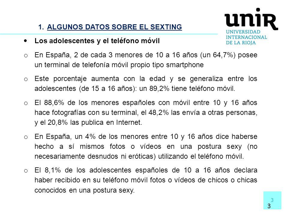 ALGUNOS DATOS SOBRE EL SEXTING