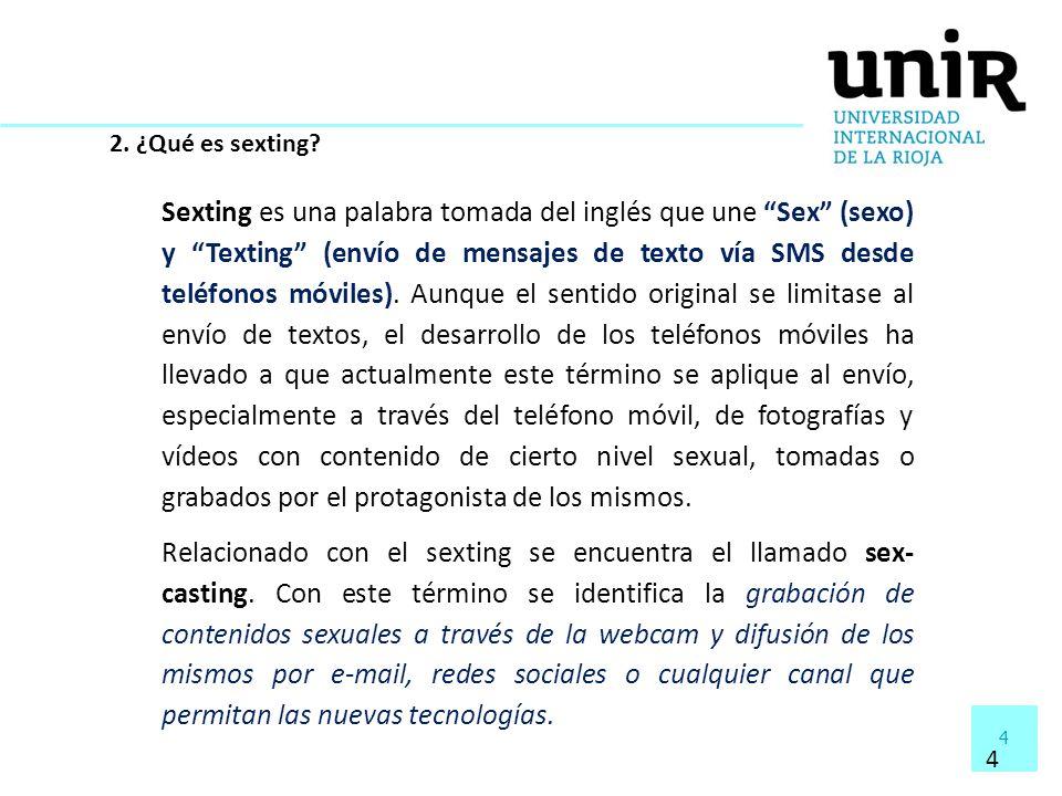 2. ¿Qué es sexting