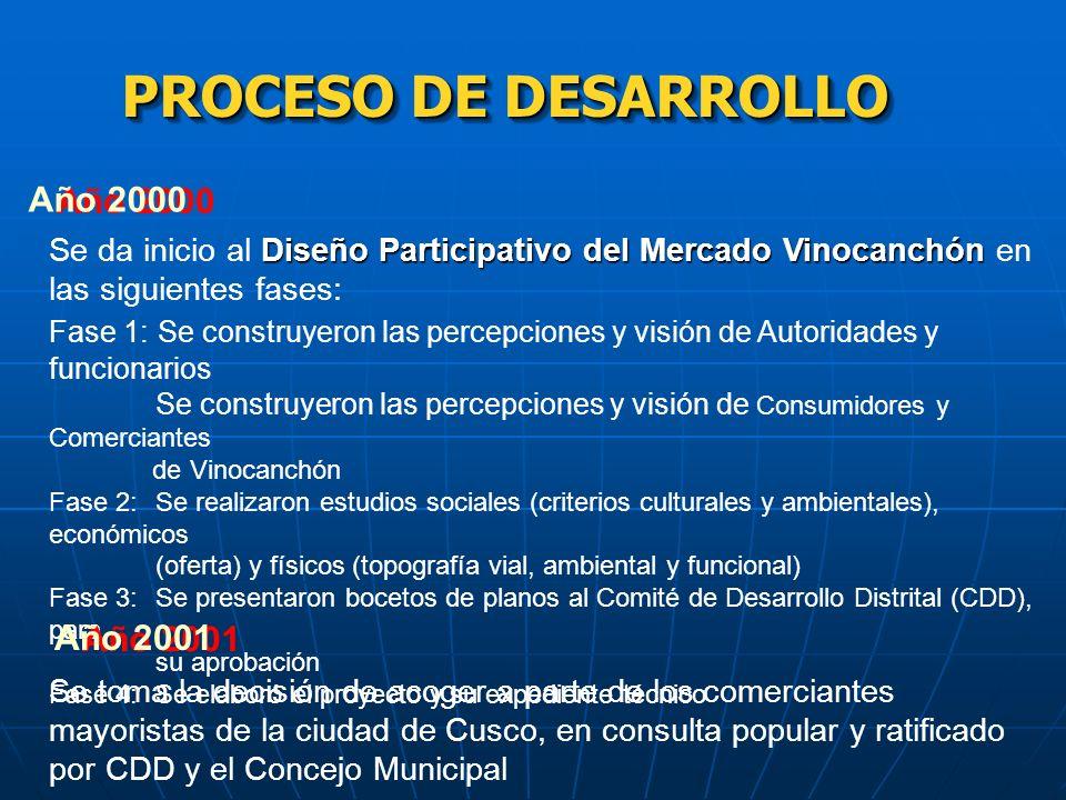 PROCESO DE DESARROLLO Año 2000 Año 2001